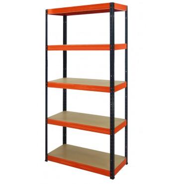 Helios Color 180x100x35 5p 350kg na półkę / Kolor: Czarno-Pomarańczowy
