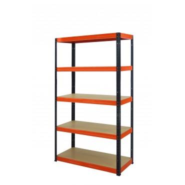 Helios Color 196x075x40 5p 350kg na półkę / Kolor: Czarno-Pomarańczowy