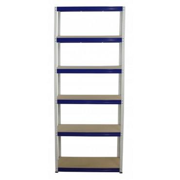 Helios Color 196x90x30 6p 275kg na półkę / Kolor: Biało-Niebieski