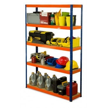 Helios Color 213x110x45 5p 350kg na półkę / Kolor: Czarno-Pomarańczowy
