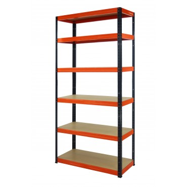 Helios Color 213x090x40 6p 350kg na półkę / Kolor: Czarno-Pomarańczowy
