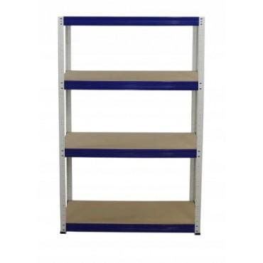Helios Color 180x75x40 4p 400kg na półkę / Kolor: Biało-Niebieski