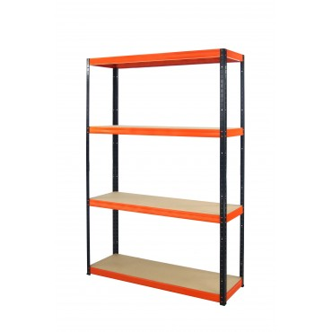 Helios Color 180x110x30 4p 400kg na półkę / Kolor: Czarno-Pomarańczowy