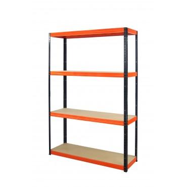 Helios Color 180x120x35 4p 400kg na półkę / Kolor: Czarno-Pomarańczowy