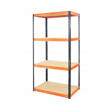 Helios Color 180x90x60 4p 175kg na półkę / Kolor: Czarno-Pomarańczowy