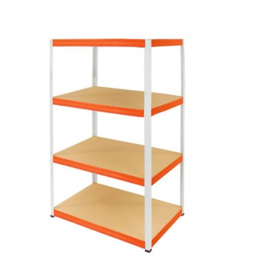 Helios Color 180x75x30 4p 275kg na półkę / Kolor: Biało-Pomarańczowy