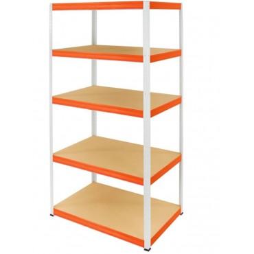 Helios Color 180x100x50 5p 275kg na półkę / Kolor: Biało-Pomarańczowy