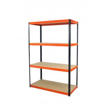 Helios Color 180x110x60 4p 275kg na półkę / Kolor: Czarno-Pomarańczowy