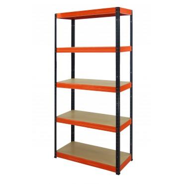 Helios Color 196x110x30 5p 275kg na półkę / Kolor: Czarno-Pomarańczowy