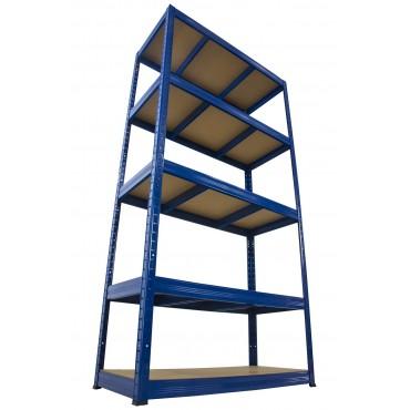 Helios Color 196x100x30 5p 275kg na półkę / Kolor: Niebiesko-Niebieski