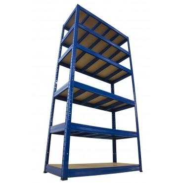 Helios Color 196x75x30 6p 400kg na półkę / Kolor: Niebiesko-Niebieski