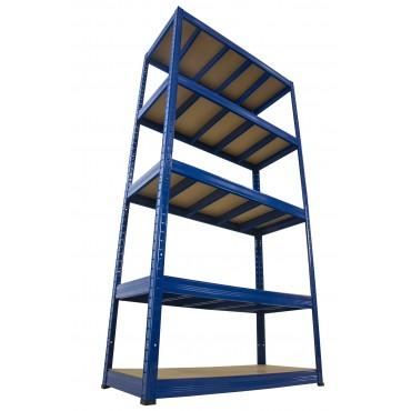 Helios Color 196x90x40 5p 400kg na półkę / Kolor: Niebiesko-Niebieski