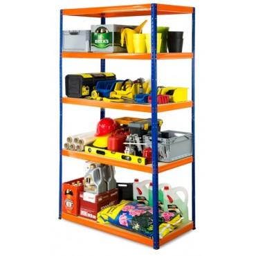 Helios Color 213x120x45 5p 275kg na półkę / Kolor: Niebiesko-Pomarańczowy