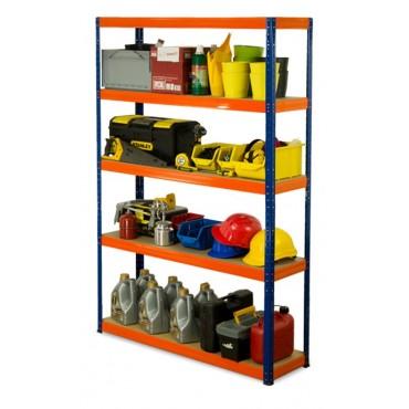 Helios Color 180x120x40 5p 350kg na półkę / Kolor: Niebiesko-Pomarańczowy