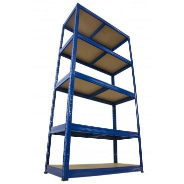 Helios Color 196x90x40 5p 175kg na półkę / Kolor: Niebiesko-Pomarańczowy