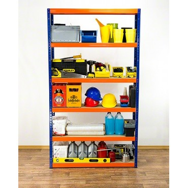 Helios Color 196x120x60 6p 175kg na półkę / Kolor: Niebiesko-Pomarańczowyi
