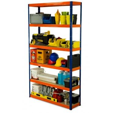 Helios Color 213x120x30 6p 175kg na półkę / Kolor: Niebiesko-Pomarańczowyi