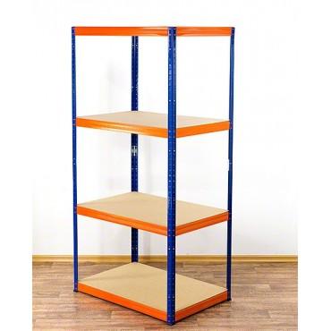 Helios Color 180x75x40 4p 275kg na półkę / Kolor: Niebiesko-Pomarańczowy