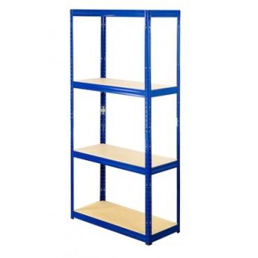 Helios Color 180x75x35 4p 400kg na półkę / Kolor: Niebiesko-Biały