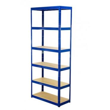 Helios Color 196x75x30 6p 400kg na półkę / Kolor: Niebiesko-Biały