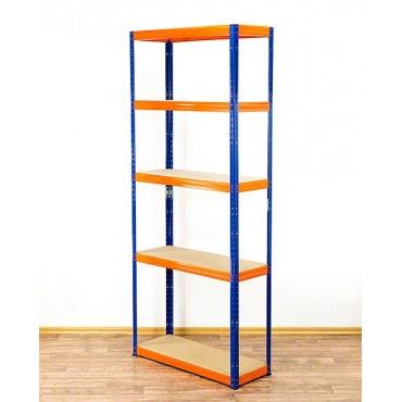 Helios Color 196x120x35 5p 350kg na półkę / Kolor: Niebiesko-Pomarańczowy