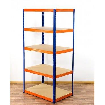 Helios Color 196x120x60 5p 350kg na półkę / Kolor: Niebiesko-Pomarańczowy