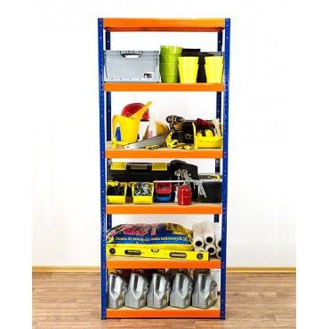 Helios Color 213x75x60 6p 350kg na półkę / Kolor: Niebiesko-Pomarańczowy