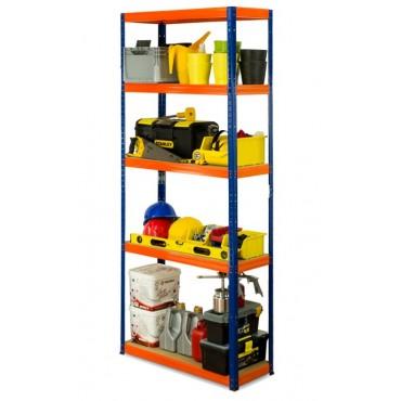 Helios Color 213x90x30 5p 350kg na półkę / Kolor: Niebiesko-Pomarańczowy