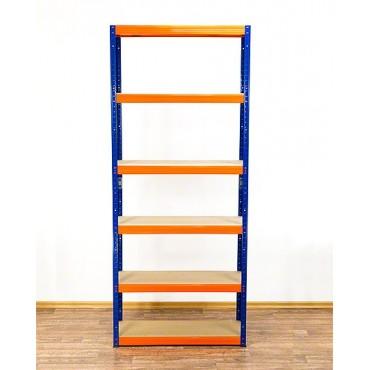 Helios Color 213x90x30 6p 350kg na półkę / Kolor: Niebiesko-Pomarańczowy