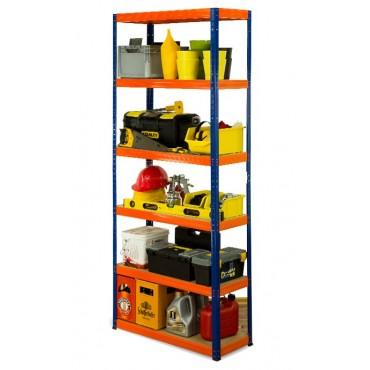 Helios Color 213x110x30 6p 350kg na półkę / Kolor: Niebiesko-Pomarańczowy