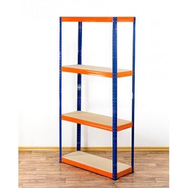 Helios Color 180x120x45 4p 400kg na półkę / Kolor: Niebiesko-Pomarańczowy