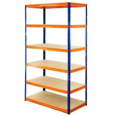 Helios Color 196x90x40 6p 400kg na półkę / Kolor: Niebiesko-Pomarańczowy
