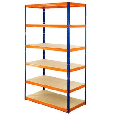 Helios Color 196x90x45 6p 400kg na półkę / Kolor: Niebiesko-Pomarańczowy
