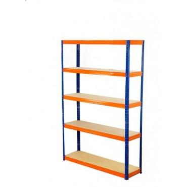 Helios Color 196x90x30 5p 275kg na półkę / Kolor: Niebiesko-Pomarańczowy