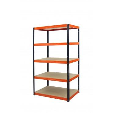 Helios Color 180x75x30 5p 175kg na półkę / Kolor: Czarno-Pomarańczowy