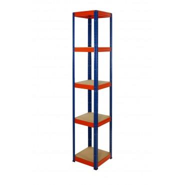 Helios Color 213x30x30 5p 175kg na półkę / Kolor: Niebiesko-Pomarańczowy