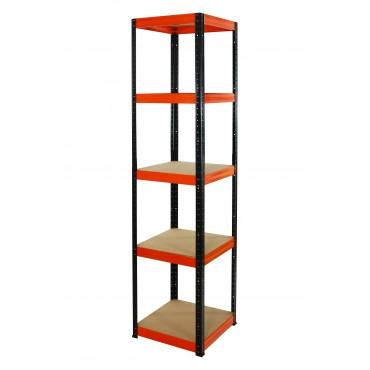 Helios Color 180x45x45 5p 175kg na półkę / Kolor: Czarno-Pomarańczowy